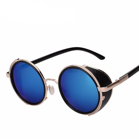 Retro Vintage Round Metal Wrap Sunglasses