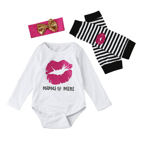 3PCS set girl clothes Infant Baby