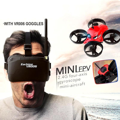 Racing Quadcopter With Goggles Glasses Headset