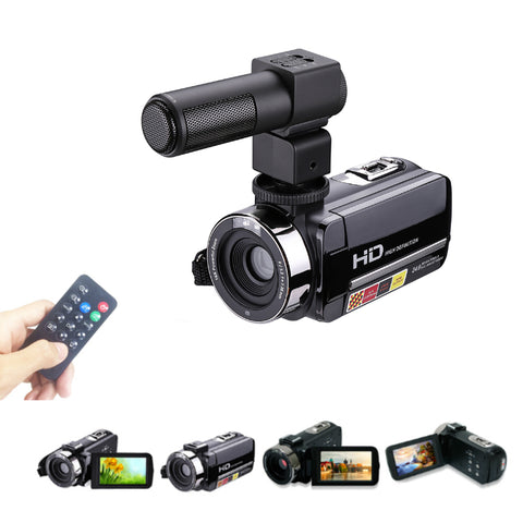 Mic and Remote HD Digital Video Camera Camcorder 16x