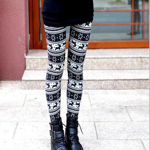 Stretchy Printed Pencil  Pants