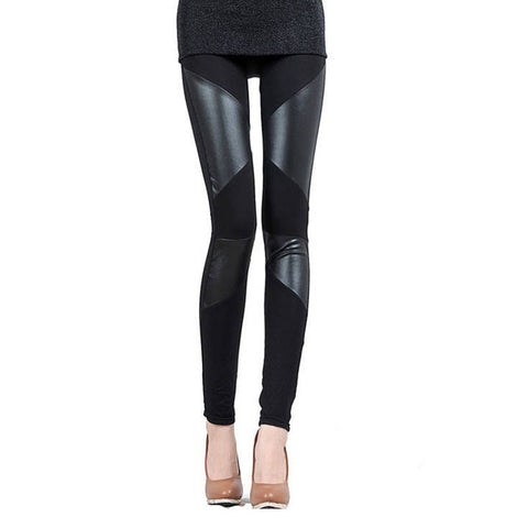 S-XXL Faux Leather Skinny Leggings