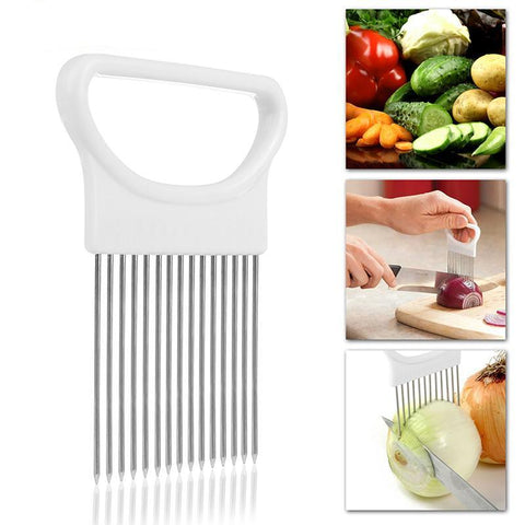 1Pcs Onion Cutter Slicer Stainless Steel