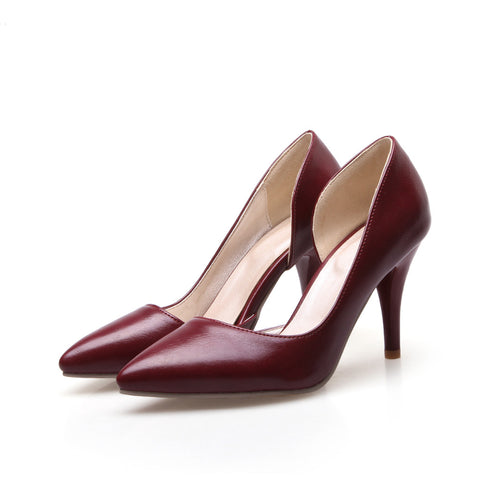 Big size 32-42 pointed pumps 4 colors