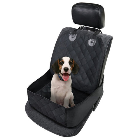 Single Car Front Seat Pet Dog Nonslip Protecting Mat Waterproof Copilot Cushion Thickened Lattice Cat Carrying Bags Supplies