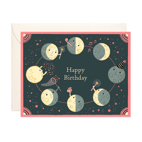 Moon Phases Birthday Card