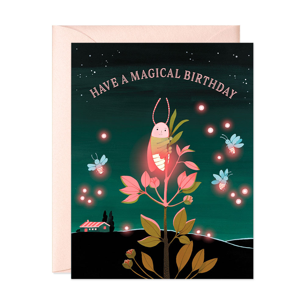 Firefly Birthday Card