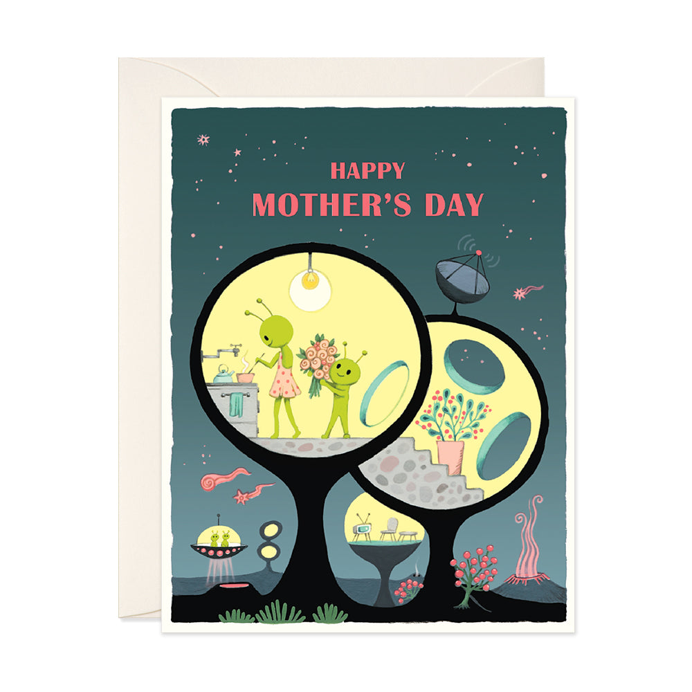 Mother's Day Aliens Card