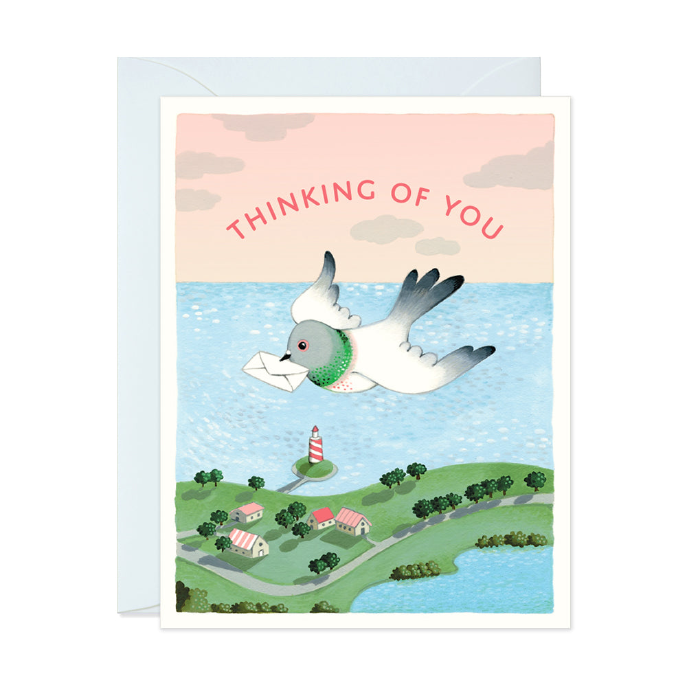 Thinking of You Pigeon Card