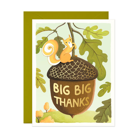 Squirrel Big Thanks Card