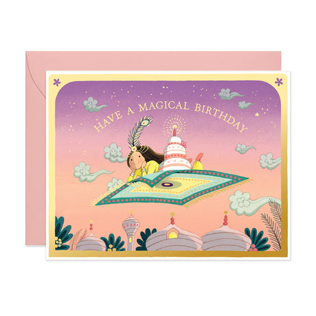 Magic Carpet Birthday Card