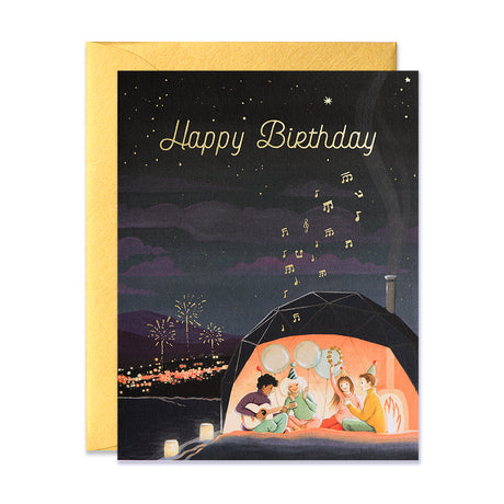Aurora Dome Birthday Card