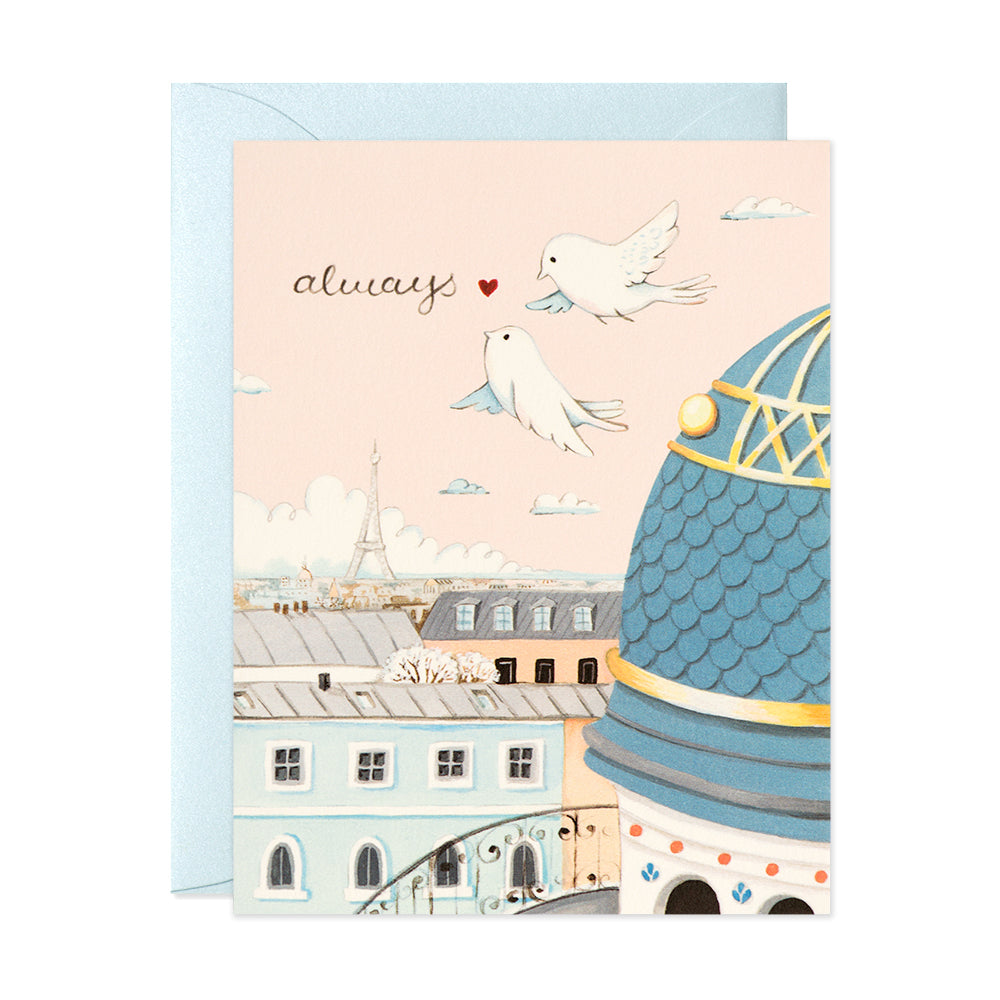 Always Paris Rooftops Card