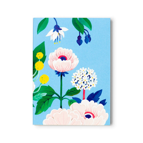 Blue Floral Notepad