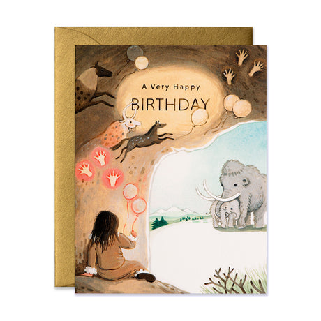 Caveman Birthday Card