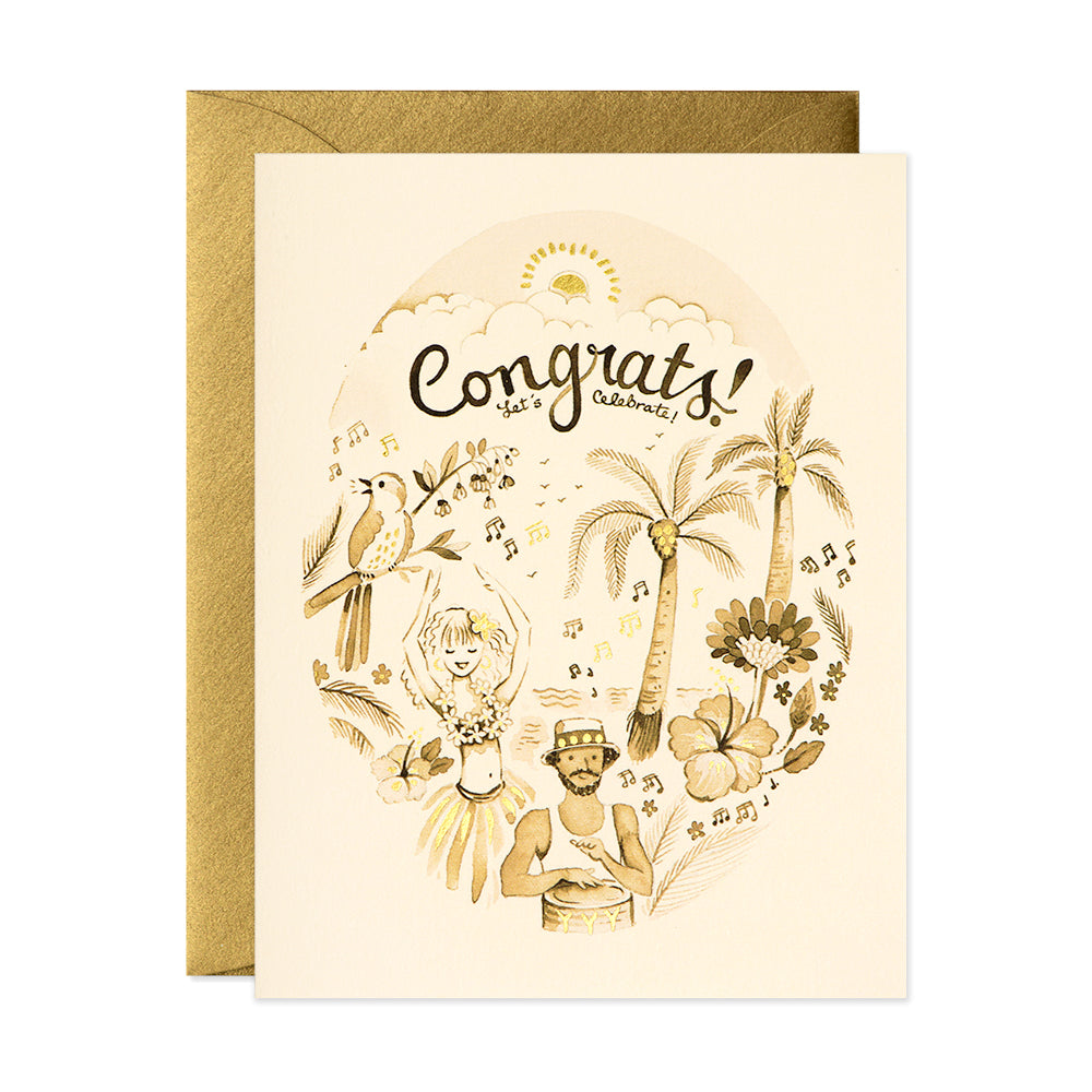 Tropical Congrats Card