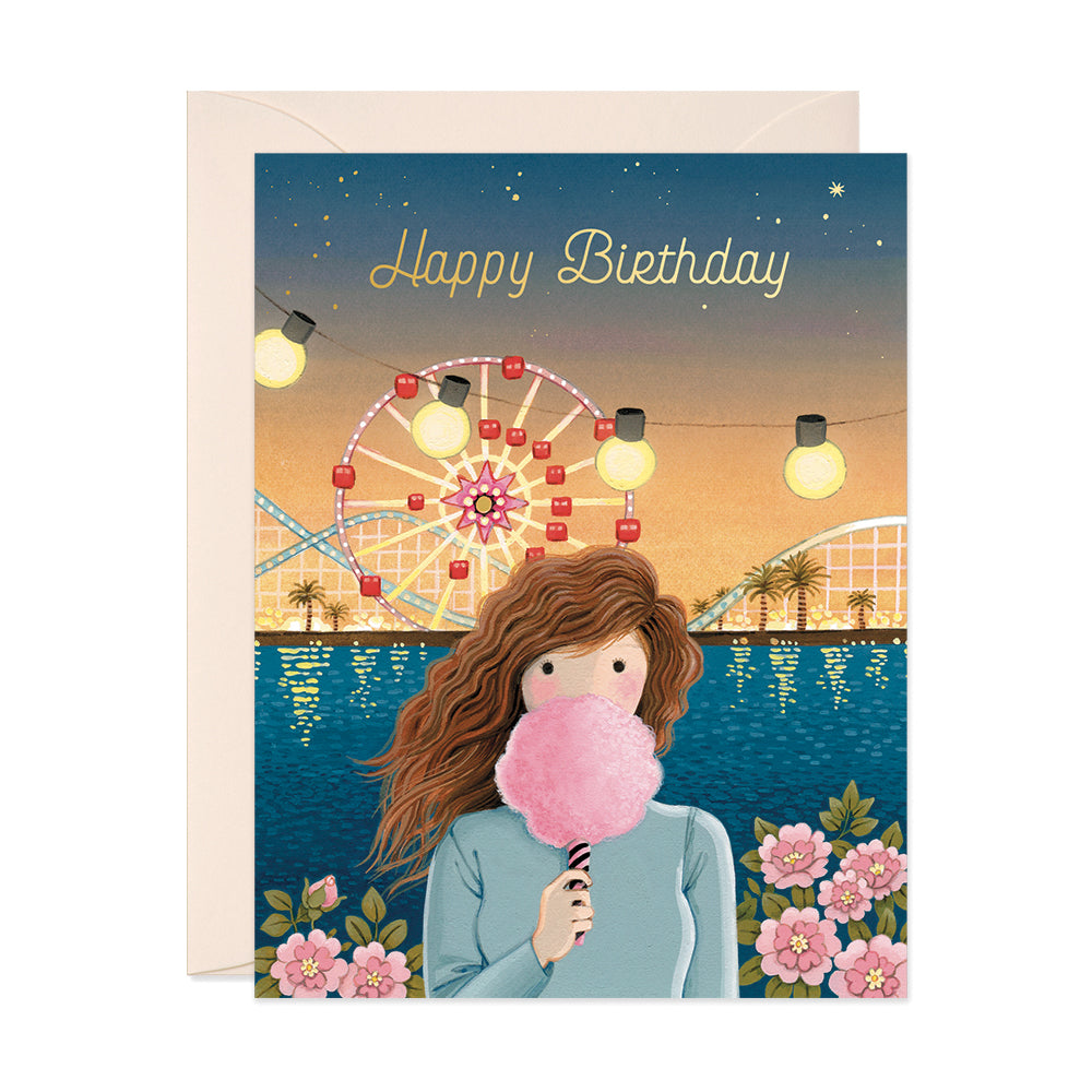 Cotton Candy Birthday Card