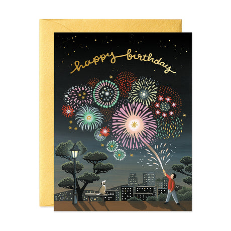 Fireworks Birthday Card