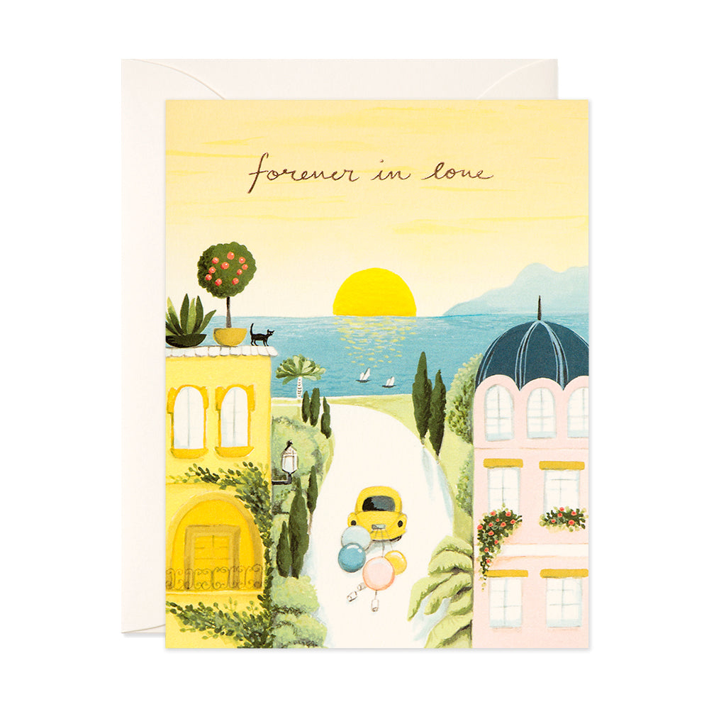 Forever in Love Wedding Card