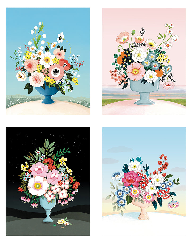 Flower Vases Card Set