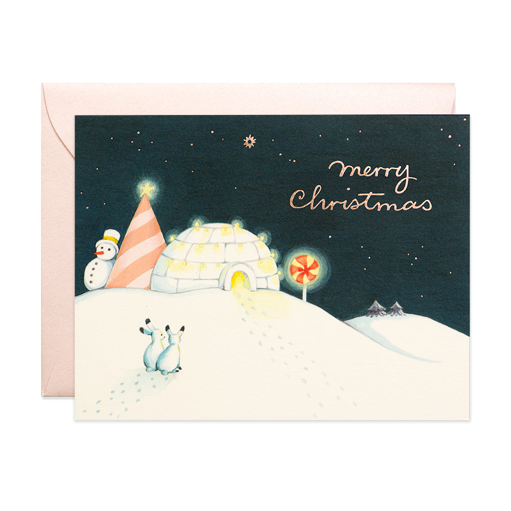Igloo Christmas Card