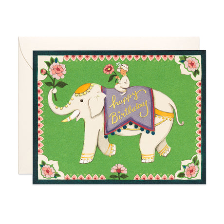 Indian Elephant Birthday Card