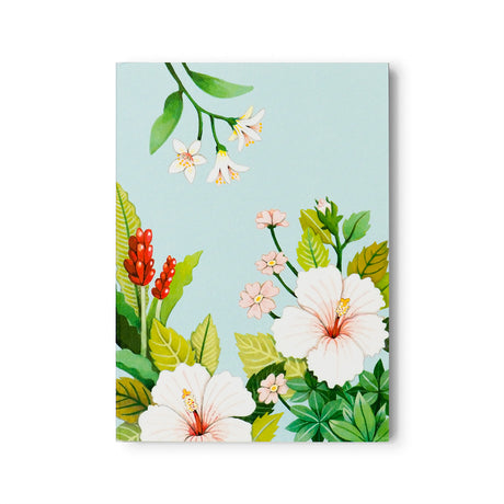 Light Blue Floral Notepad