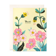 Yellow Floral Thank You Card
