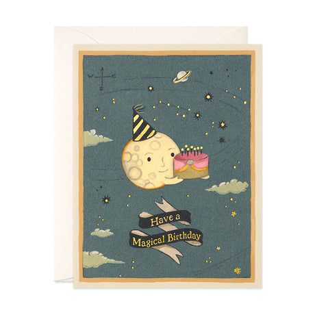 Moon Cake Birthday Card