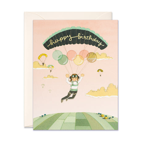 Paraglider Birthday Card
