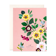 Pink Floral Thank You Card