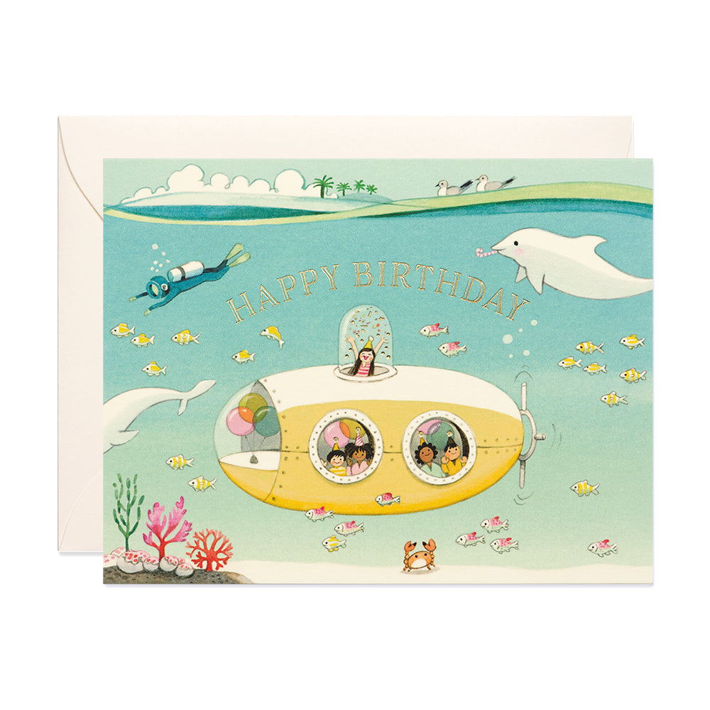Submarine Birthday Card