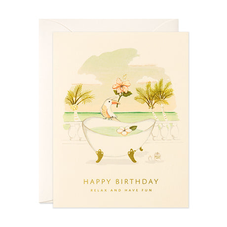 Toucan & Tub Birthday Card