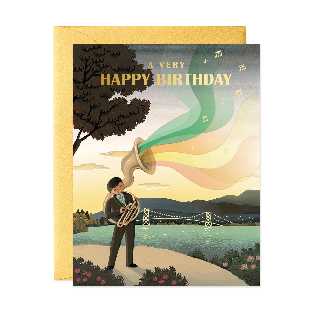 Tuba Player Birthday Card