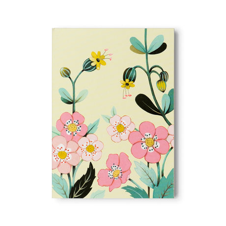 Yellow Floral Notepad