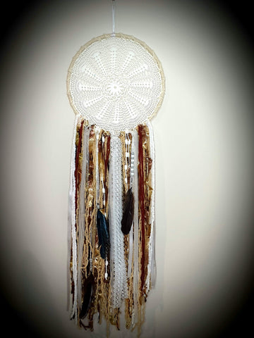 Brown & White Dream Catcher