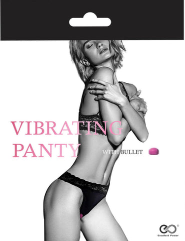 Vibrating Panty With Bullet (Black)