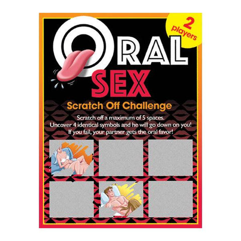 Sexy Scratcher - Oral Sex Challenge