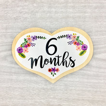 6 Months Heart Baby Milestone Shapes Stick'em Up Baby™
