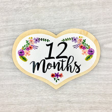 12 Months Heart Baby Milestone Shapes Stick'em Up Baby™