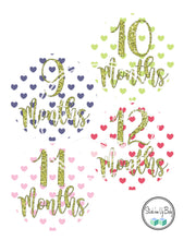 Hearts | Monthly Baby Stickers | Stick'em Up Baby™
