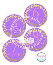 Purple and Gold | Monthly Baby Stickers | Stick'em Up Baby™