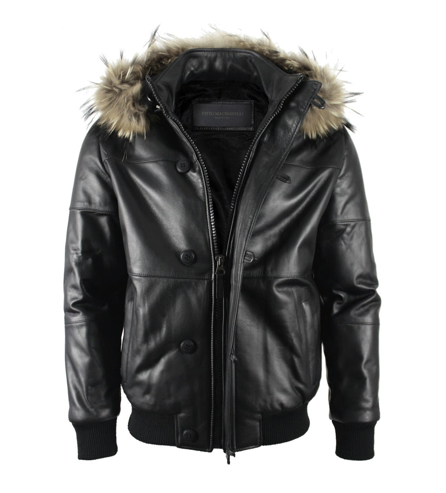 Black Lambskin Leather Jacket