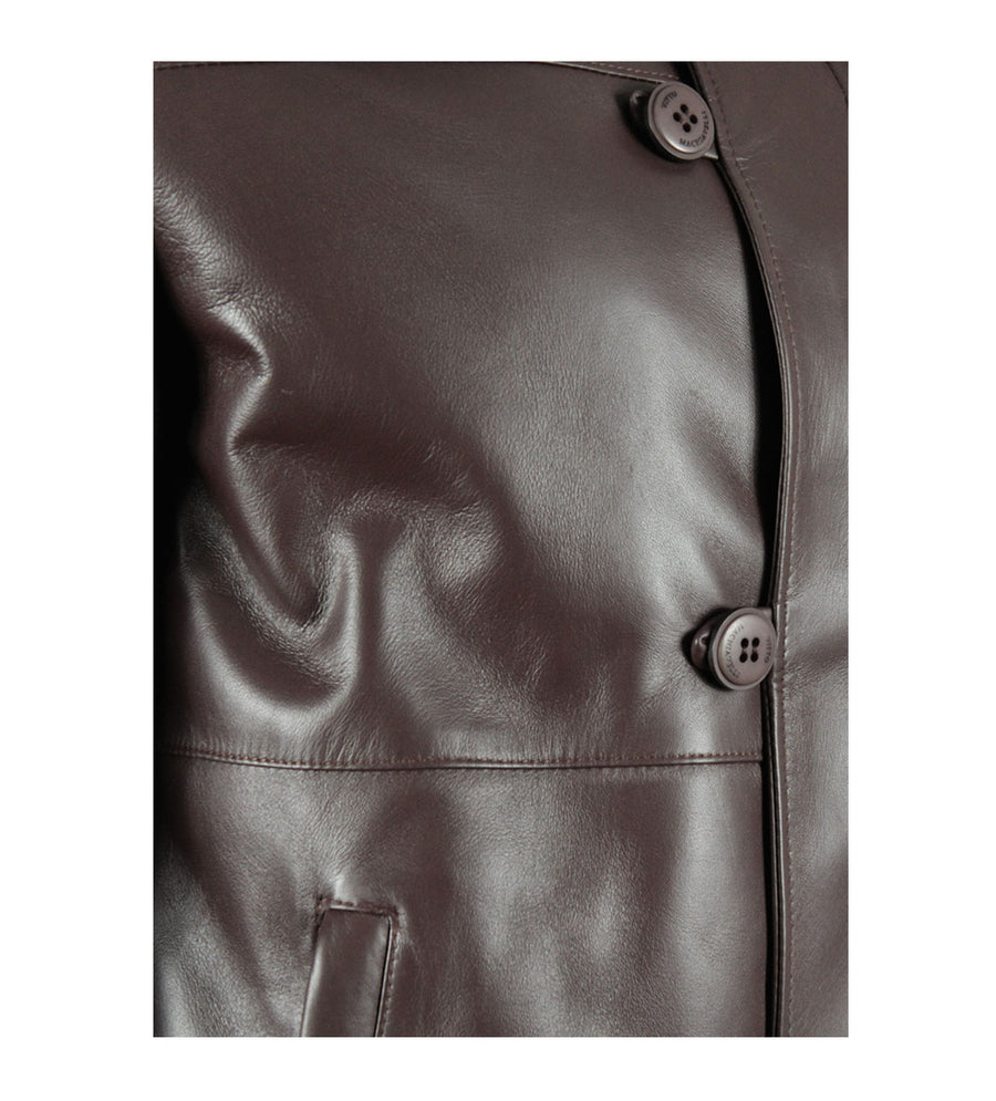 Brown Lambskin Leather Jacket