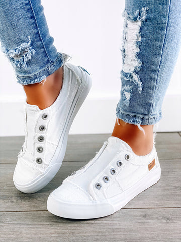 White Canvas Blowfish Sneaker