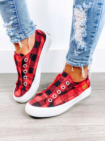 Red Buffalo Plaid Blowfish Sneaker