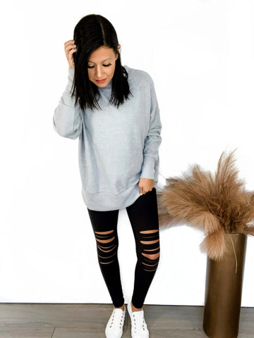 Laser Distressed Leggings
