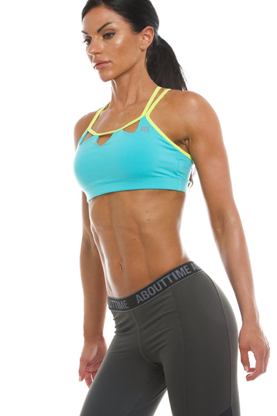Signature Series Women's Triangle Sports Bra - Aqua