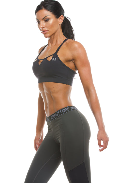 Signature Series Women's Triangle Sports Bra - Black