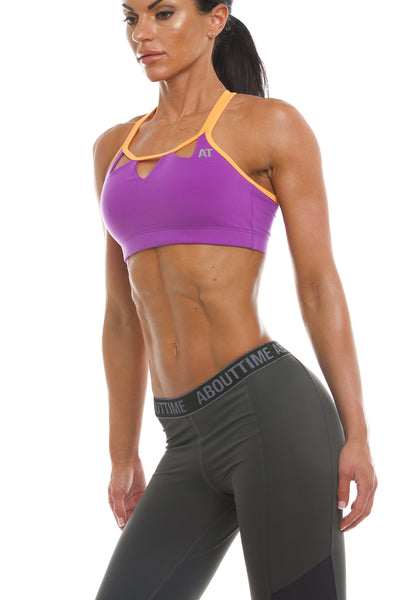 Signature Series Women's Triangle Sports Bra - Purple